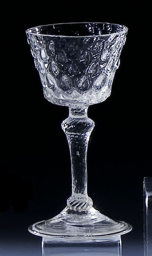 23: Kelch glas Luettich Belgium Goblet Glass antique