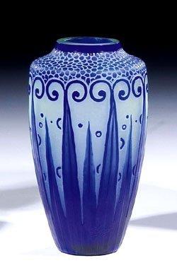 437: Vase Paul Nicolas Nancy Glass Art Deco Nouveau