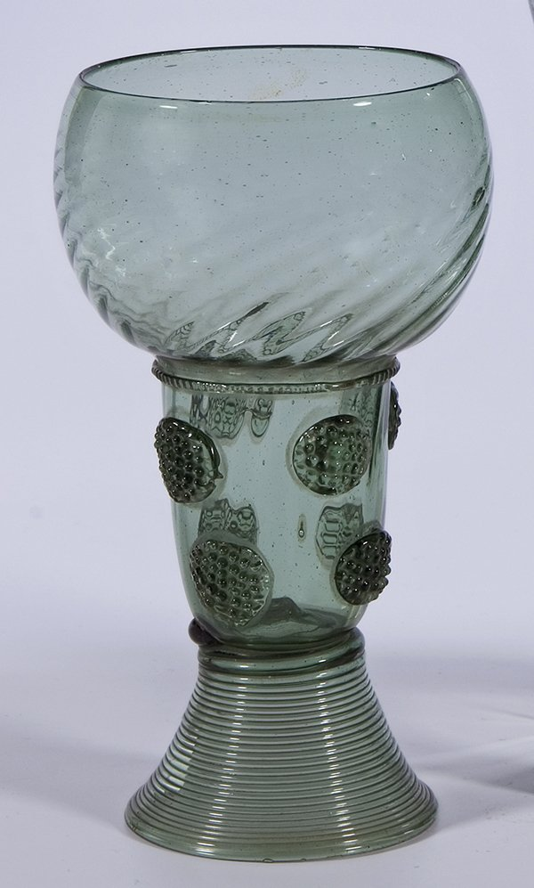 1: Roemer Glass Rummer German? Dutch? Vintage old