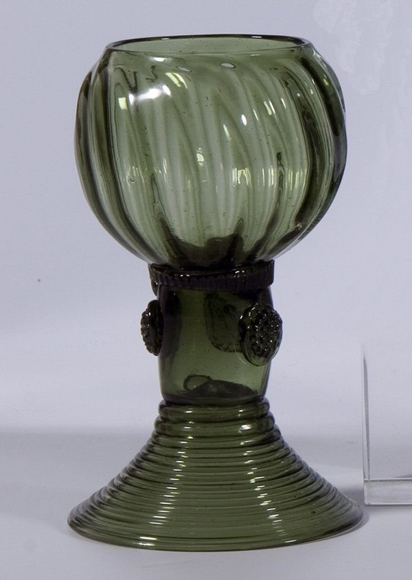 3: Roemer German Glass Rummer Vintage Old