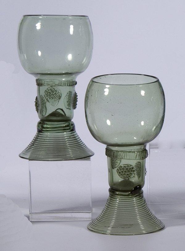 4: Paar Roemer German-Duch pair rummer glass vintage
