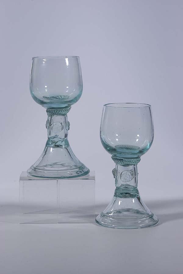 7: Paar Roemer Deutsch German pair rummer glass old