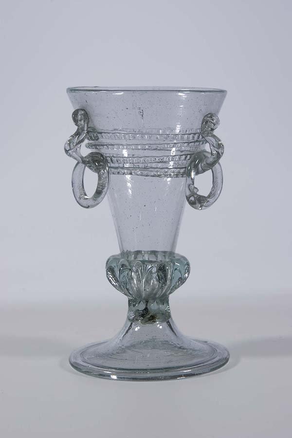 11: Becher Deutsch Boehm. Glass Beaker German Bohemia