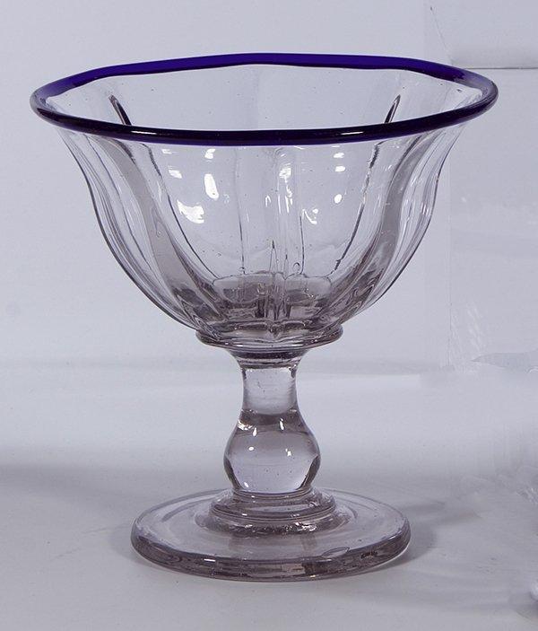 16: Fussschale Fason de Venice Glass Bowl vintage old