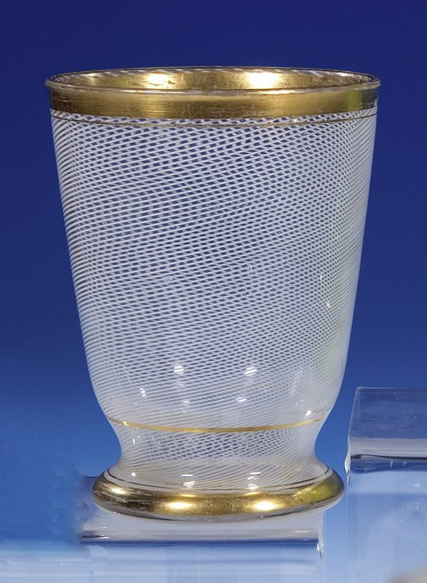 277: Becherglas Josephinenhuette Glass Beaker Vintage