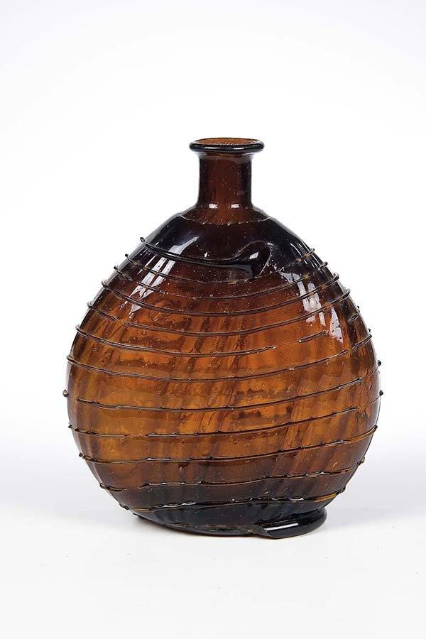 17: Flasche Alpen Alps Brown Glass Bottle Vintage