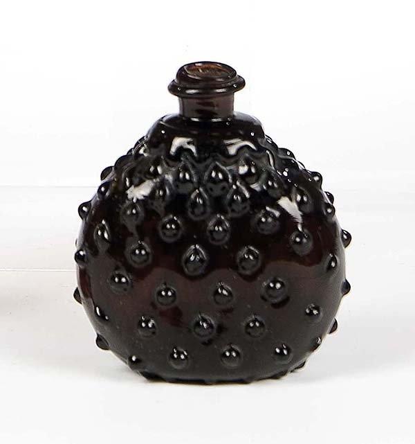 20: Flasche Alpen Alps Brown Glass Bottle Vintage