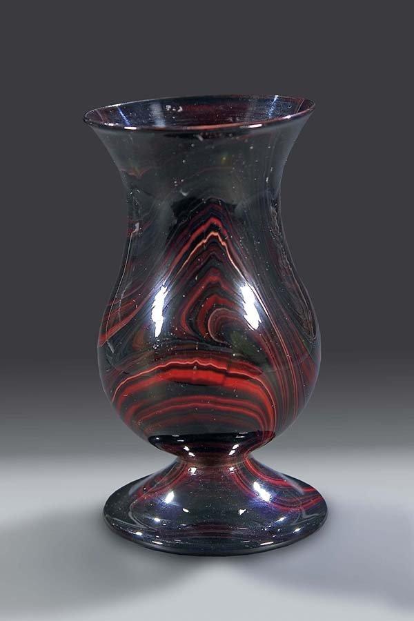 21: Vase Sachsen Saxonia Glass Vintage Old