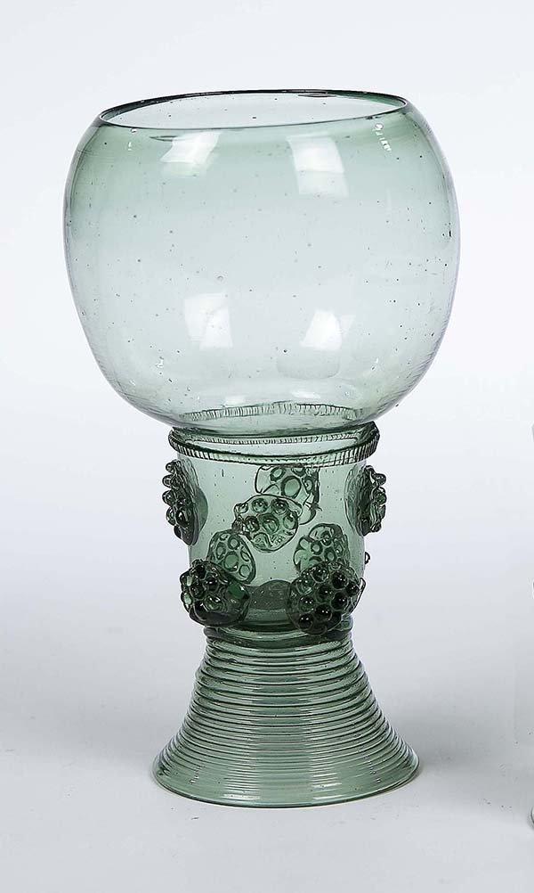 22: Roemer German Dutch Glass Rummer Vintage