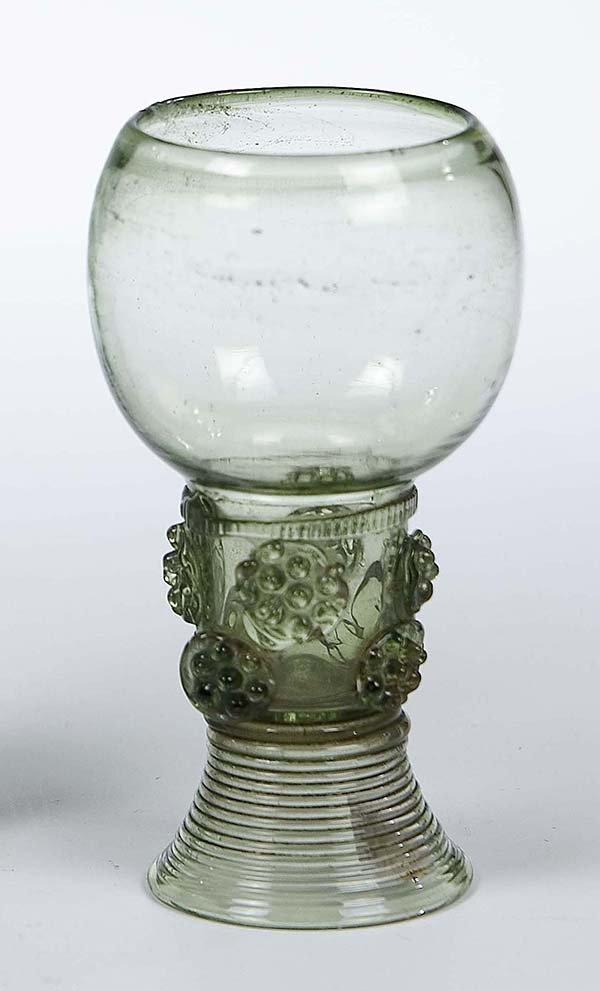 23: Roemer German Dutch Glass Rummer Vintage