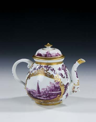 4: Teekaennchen Meissen Porcelain Tea Pot Vintage