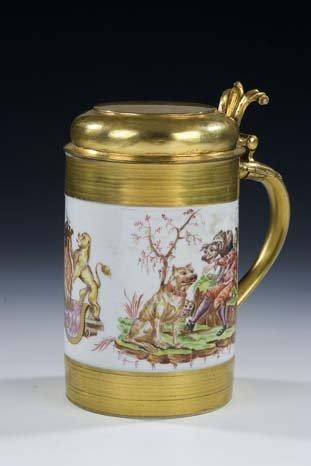 5: Walzenkrug Meissen Porcelain Jug Vintage