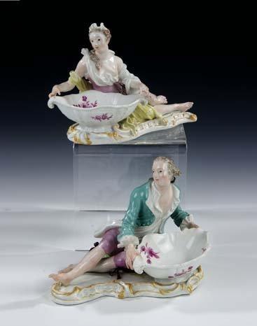 7: Gewürzschalen Meissen Porcelain Spice Bowls Old