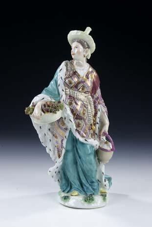 11: Malabarin Meissen Porcelain Figurine Malabarian
