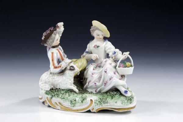15: Schaefergruppe Meissen Porcelain Sheppards