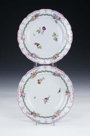 16: Paar Teller KPM Berlin Porcelain Plate Friedrich