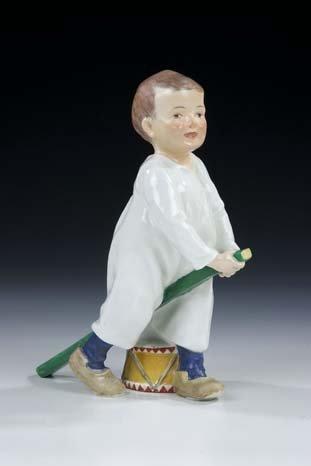 52: Junge Hentschel Meissen Porcelain Figurine Boy