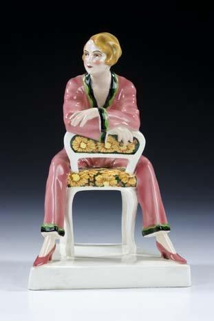 118: Modedame Goldscheider Vienna Ceramic Figurine