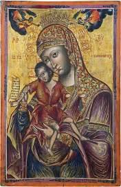 Seltene, monumentale Ikone mit der Gottesmutter von