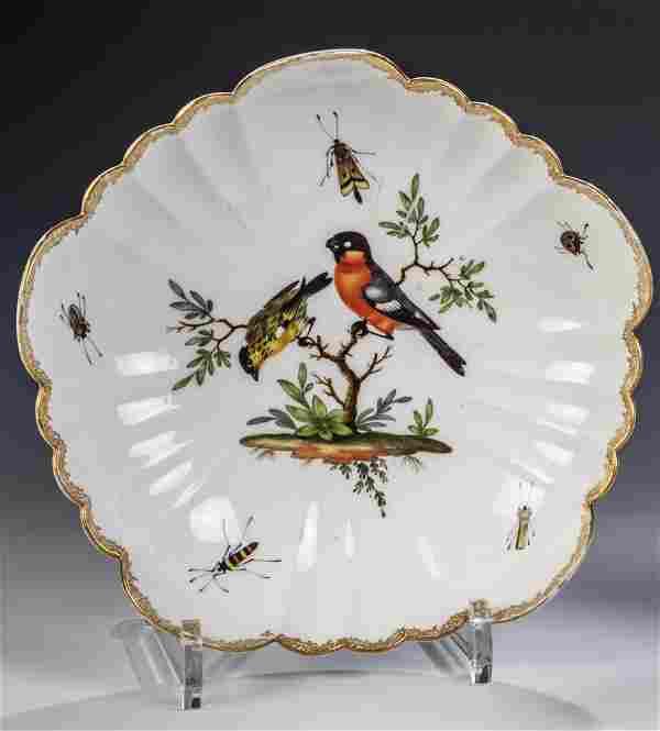Zierschale mit Vogelmalerei