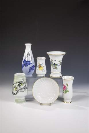 Konvolut Fnf Vasen und eine Unterschale