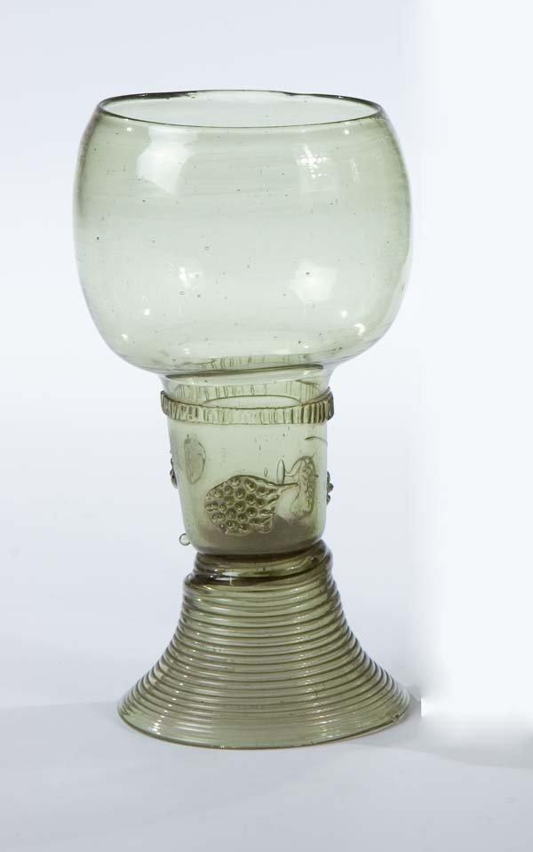 9: Roemer German Glass Rummer Vintage Old Antique