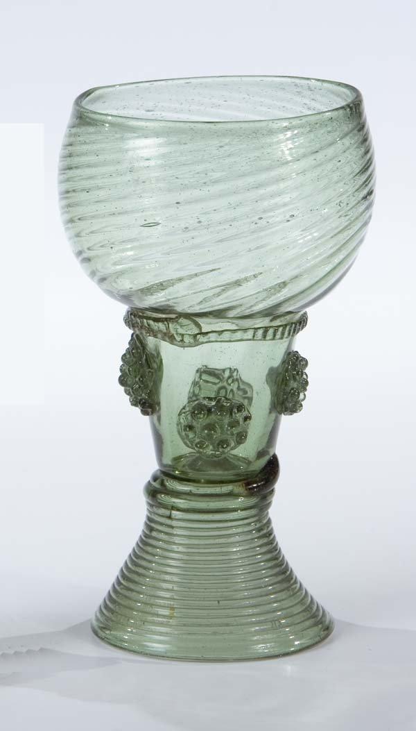 10: Roemer German Glass Rummer Vintage Old Antique