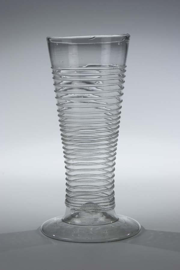 19: Bandwurmglas Germa Glass Beaker Tapeworm Antique