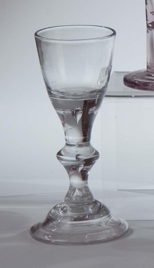 20: Kelchglas Lauenstein Glass Beaker Lion Mark Antiqu