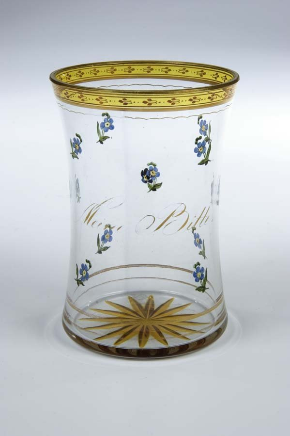 225: Becher Kothgasser Glass Beaker Antique Vintage Old