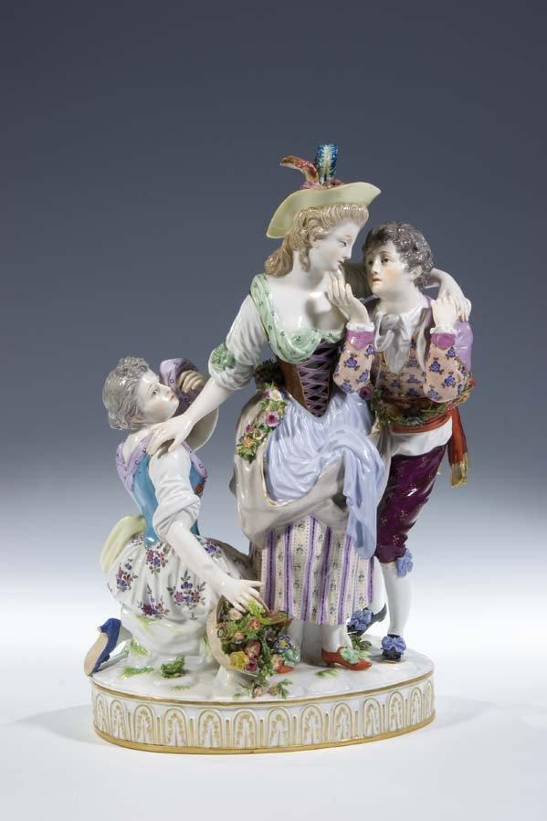 1:  Porzellan Gruppe Meissen Porcelain Group vintage