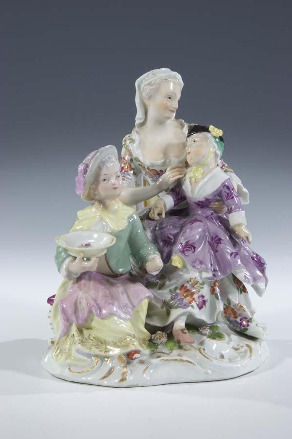 6:  Amme Porzellan Meissen Porcelain Nurse Vintage