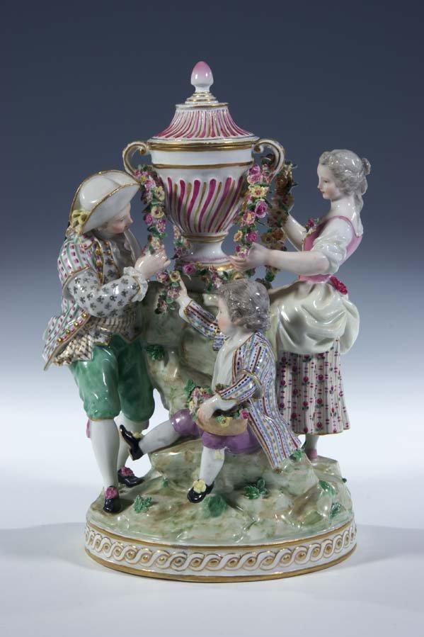 7:  Gaertnerpaar Porzella Meissen Porcelain Gardener
