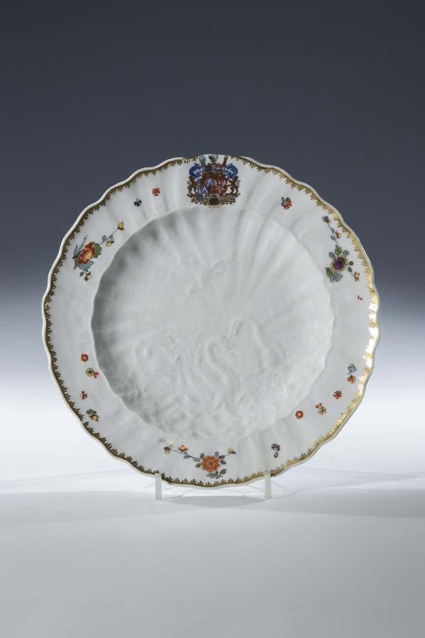 11:  Teller Schwan Porzellan Meissen Plate Swan Service