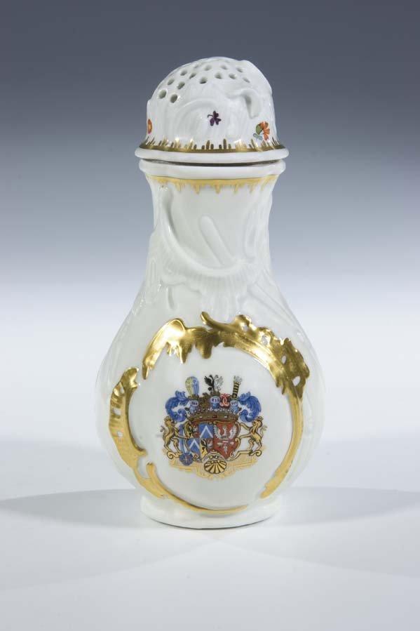 12:  Zuckerstreuer Meissen Porcelain Sugar Caster