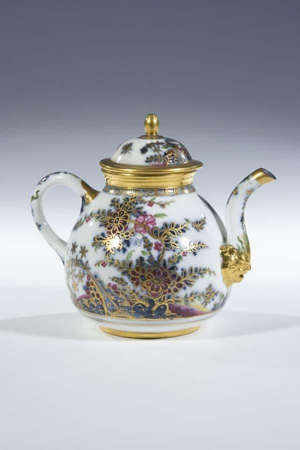 13:  Teekanne Porzellan Meissen Porcelain Tea Pot