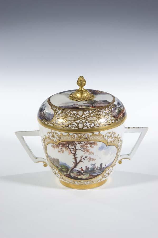 14:  Deckeldose Meissen Porzellan Porcelain Box Vintage