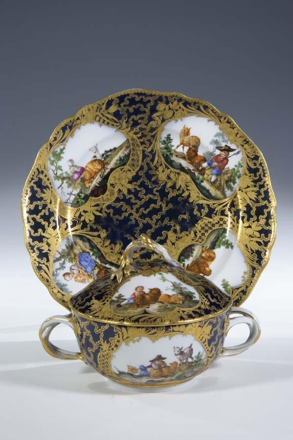 16:  Deckelterrine Meissen Porzellan Porcelain Turreen