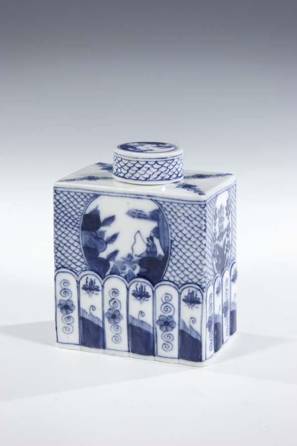 19:  Teedose Meissen Porzellan Porcelain Fishdecoration