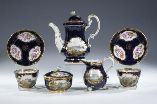 22:  Tete-a-Tete Meissen Porcelain Porzellan Service