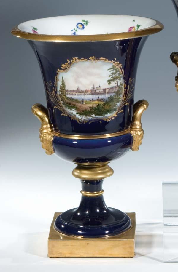 23:  Kratervase Meissen Porzellan Porcelain Vase Vintag