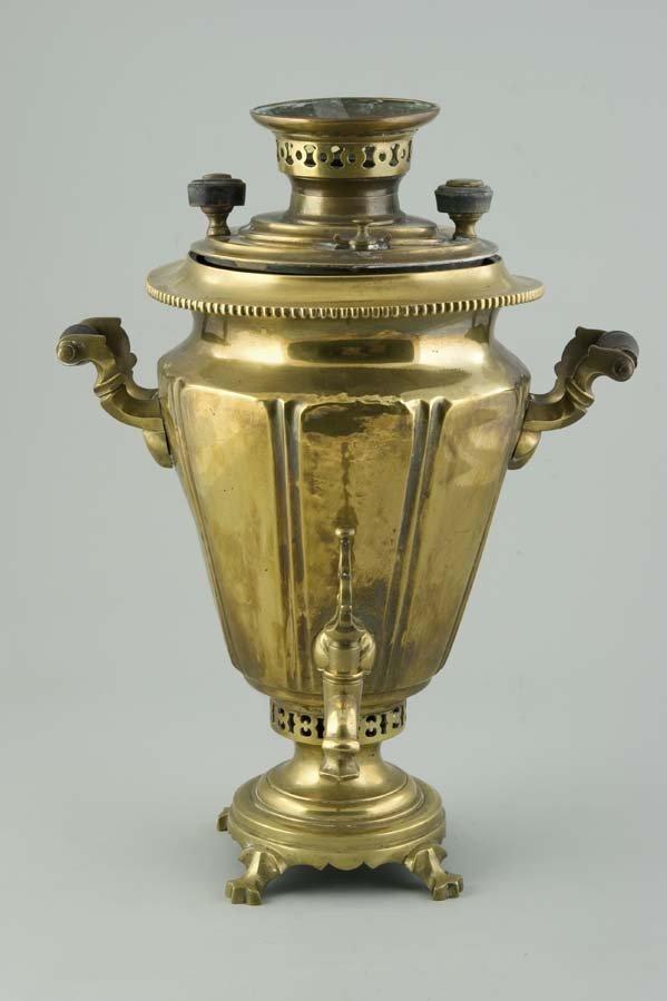1351:  Russian Brass Samovar Tula Batashev