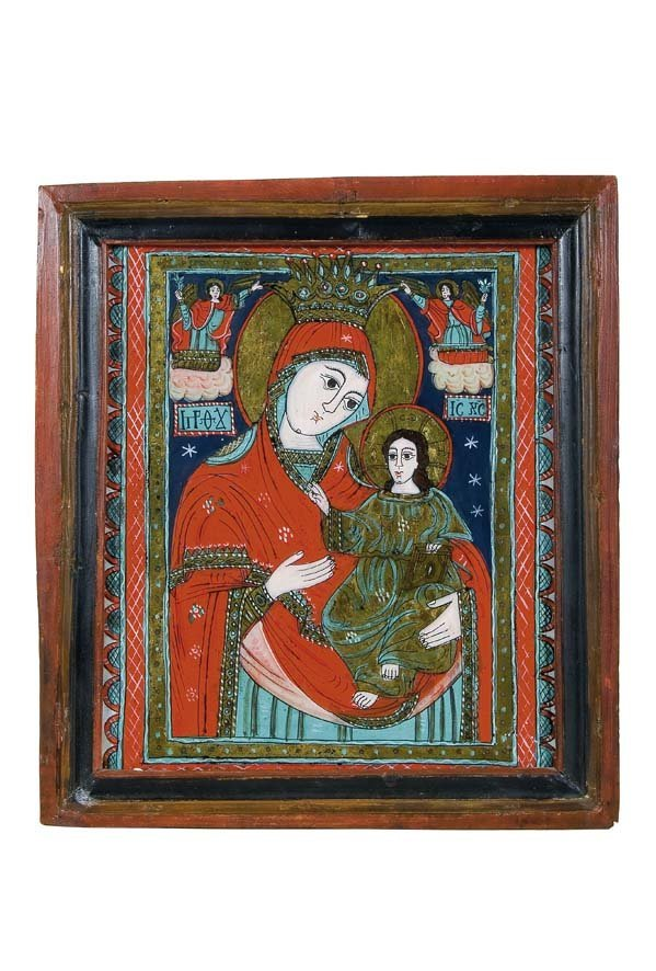 2005:  Romania Glass Icon Mother of God Lanram