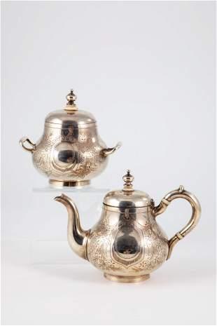 Teekanne und Zuckerdose
