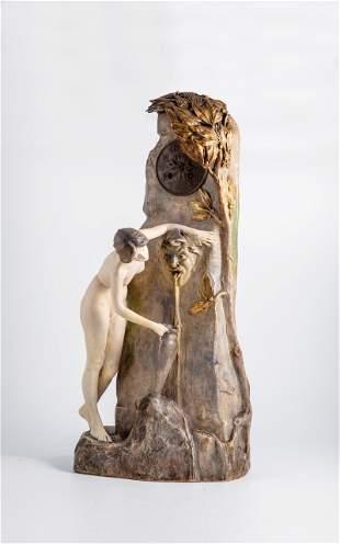 Uhr ''Am Brunnen'' (Lampe)