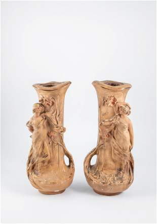 Paar Figurenvasen
