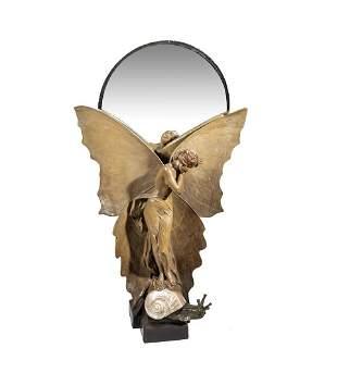 Spiegel ''Schmetterlingst�nzerin'' (Lampe)