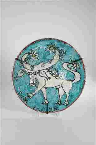 Schale mit Sternzeichen ''Stier''