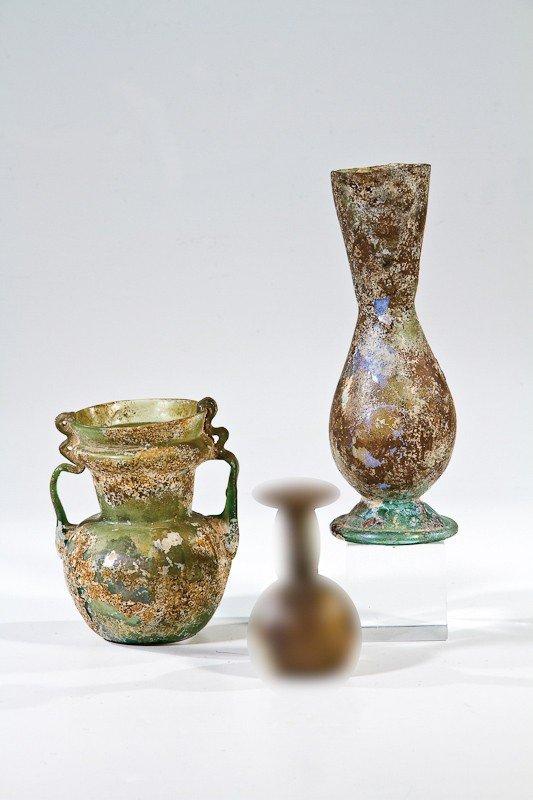 1: Vase und Henkelvase Römisch-syrisch, 1. - 3. Jh. Bod