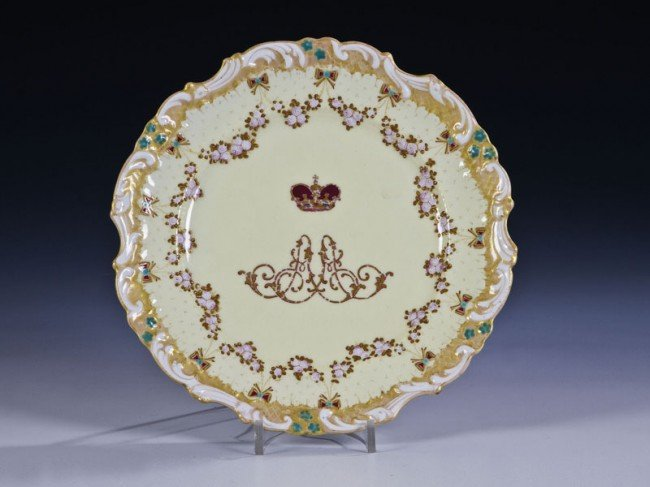 1: A porcelain plate from the service of Alexander Alex